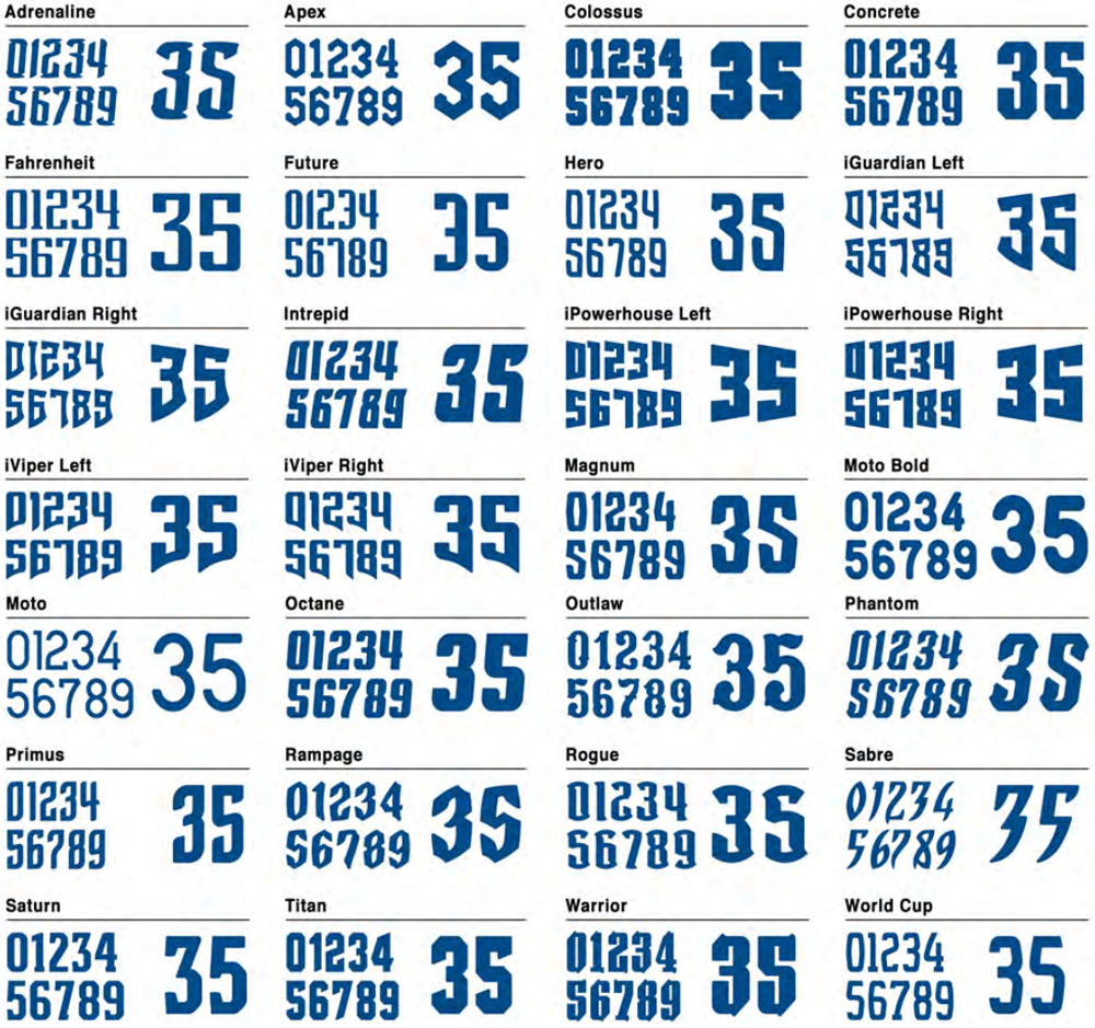 Concrete Pond Sports Numbering And Lettering