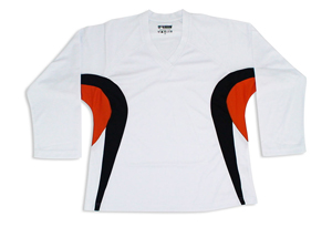 Tron SJ 200 Dry-Fit Jersey - White/Black/Orange